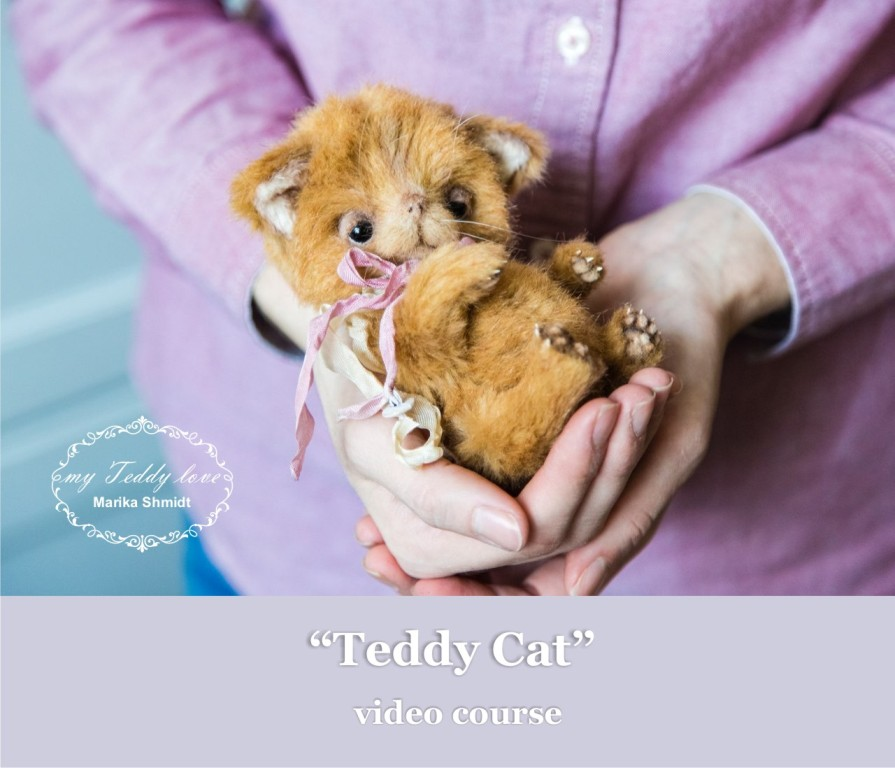 video course teddy cat by Marika Shmidt
