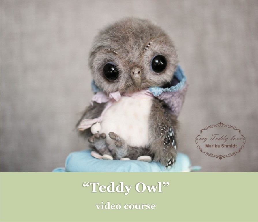 video course teddy owl by Marika Shmidt